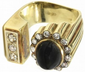 Elvis-Presley-Gold-Diamond-Black-Sapphire-Ring
