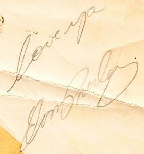 Authentic Elvis Signature