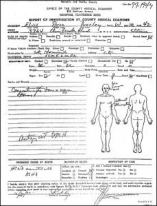 Elvis Autopsy Report