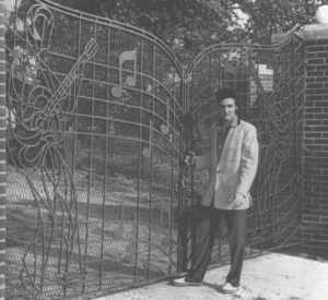 Elvis at Graceland Gates
