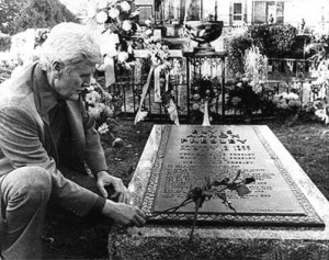 Elvis Father at Elvis Grave